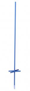 Piquet X bleu de 1 m