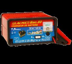 Chargeur bac 80 classique 7,5 A pour batteries 6 V et 12 V - LACME