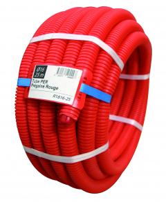 Tube PER prégainé rouge - 10 x 12 - 25 m