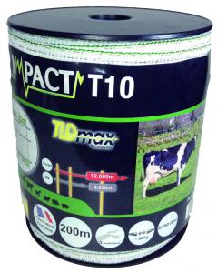 Ruban impact T40 - Blanc et vert - 200 m x 40 mm