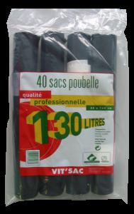 Sacs poubelle - Vit'sac - 130 L - x 40