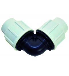 Raccord à compression coude égal 7050 - Plasson - ø 2 cm