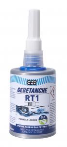 Résine d'étanchéité eau potable Plomberie - Gebetanche RT1 - 75 ml