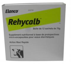 Aliment complémentaire pour veaux diarrheïques - Rehycalb - Sachet de 70 gr