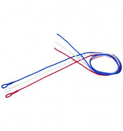 Longes vêlage de 2 m - Rouge et bleu x2