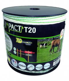 Ruban impact T20 - Blanc et vert - 200 m x 20 mm