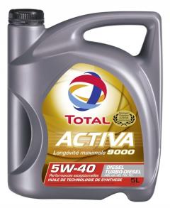 Huile moteur Total Activa 9000 Diesel 5W-40 - Bidon de 5 L
