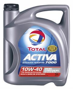 Huile moteur Total Activa Diesel 7000 10W-40 - Bidon de 5 L