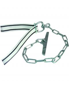 Collier veau nylon avec chaîne et clavier galvanisé